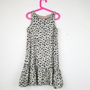 H&M girl dress size 8-9 Y scoop neckline animal pa